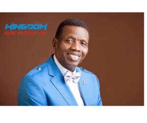 The Principles Of Giving – Pastor EA Adeboye