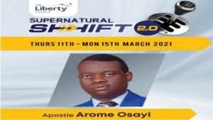 Download Sermon: Supernatural Shift London With Apostle Arome Osayi 2021 [Mp3 Download]
